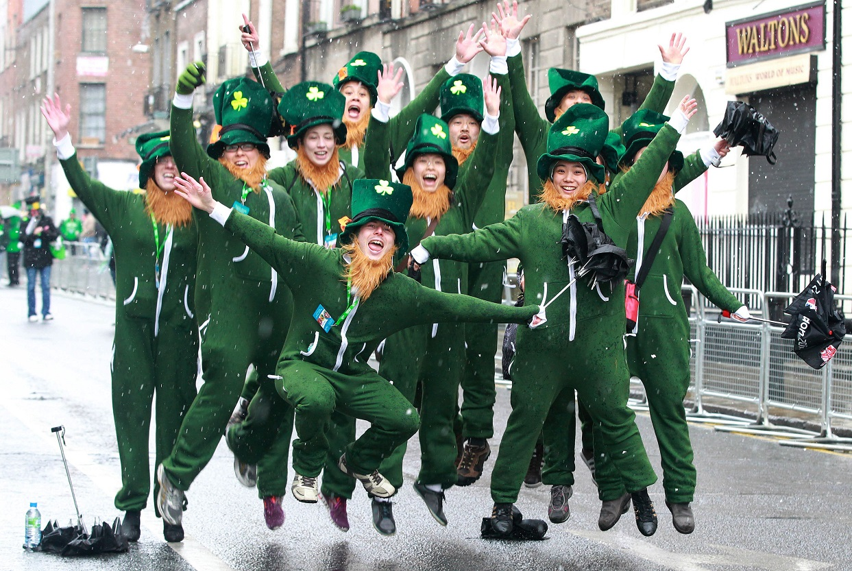 See the spectacular parade catch free performances in Trafalgar Square and enjoy Irish food and Guinness as you celebrate St Paddys Day in London